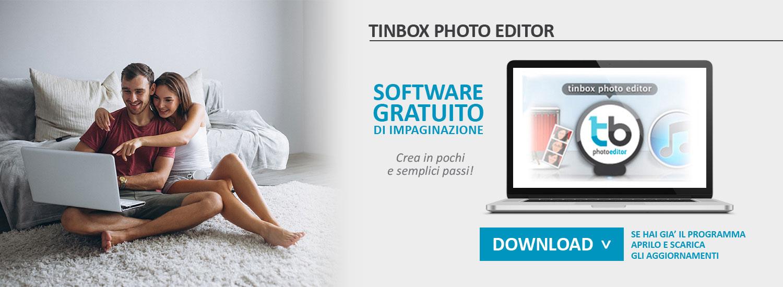 Programma gratuito di impaginazione Tinbox. Facile e
