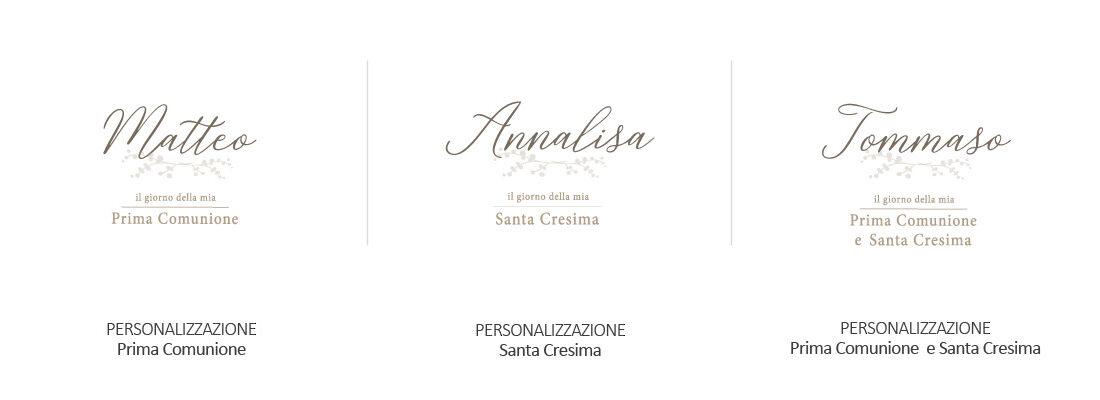 Fotoalbum personalizzati con nome Comunione e Cresima