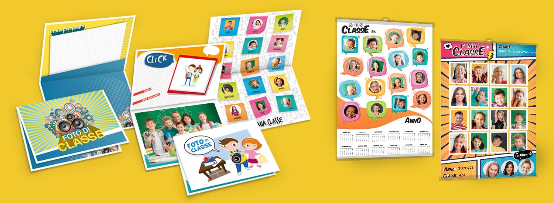 Stampa cartoncini porta foto di classe. Foto dei tuoi compagni.