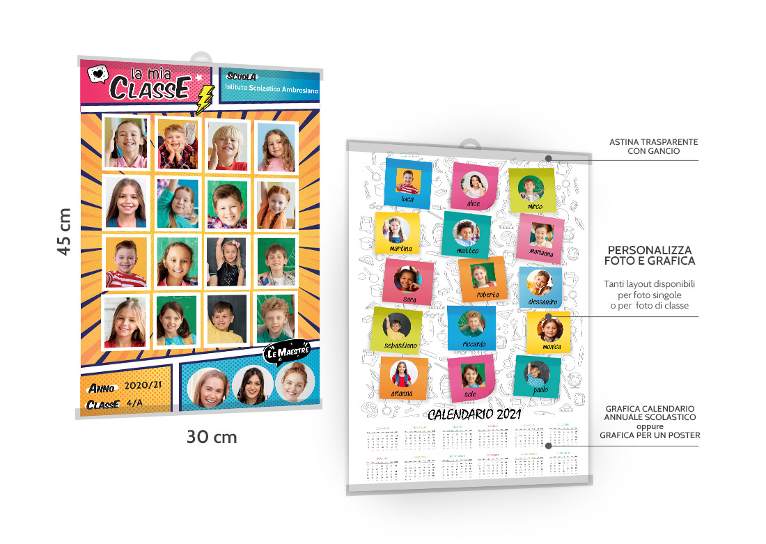Stampa poster o calendario scolastico